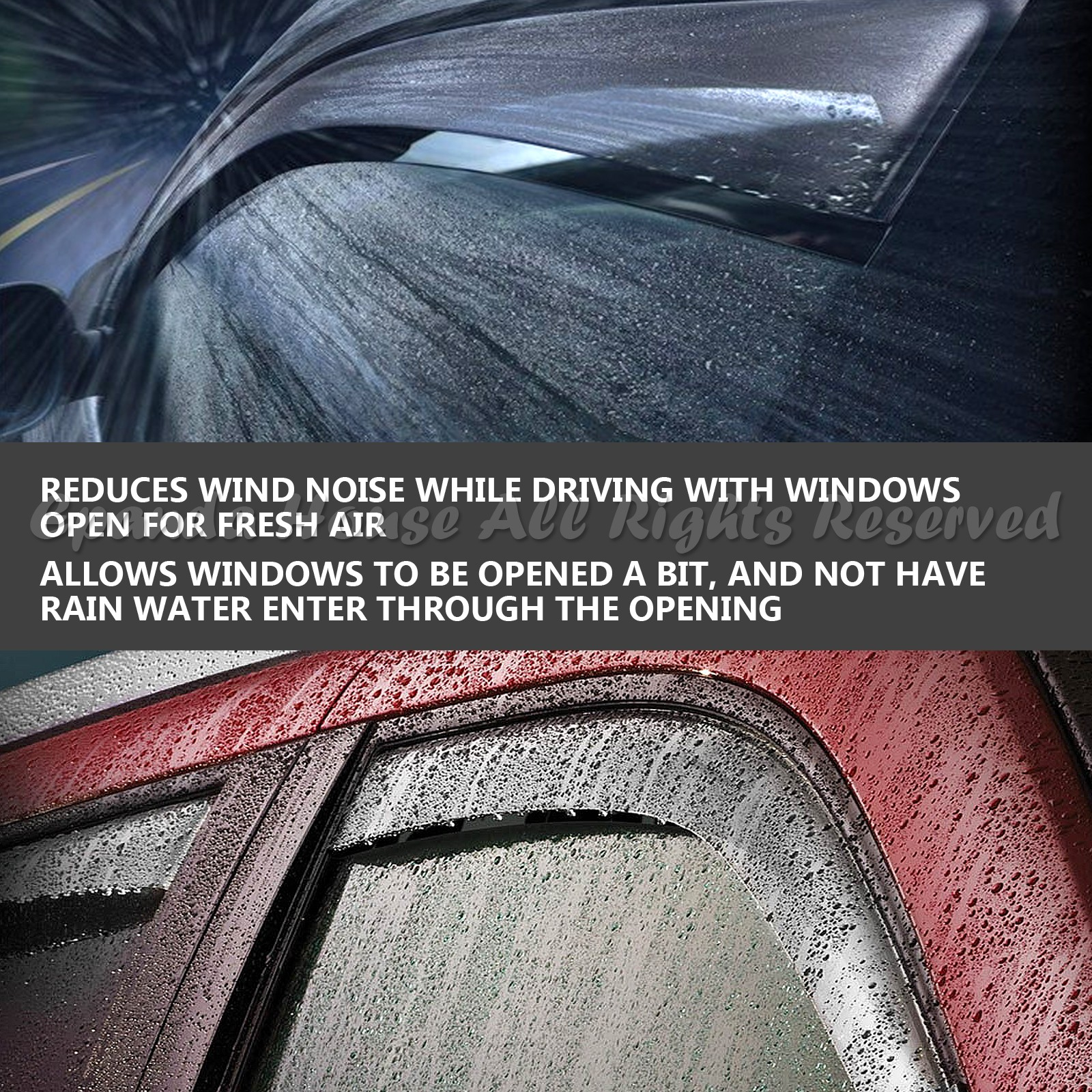 FOR 04-08 ACURA TSX 4PC WINDOW VISORS WIND RAIN GUARD SUN