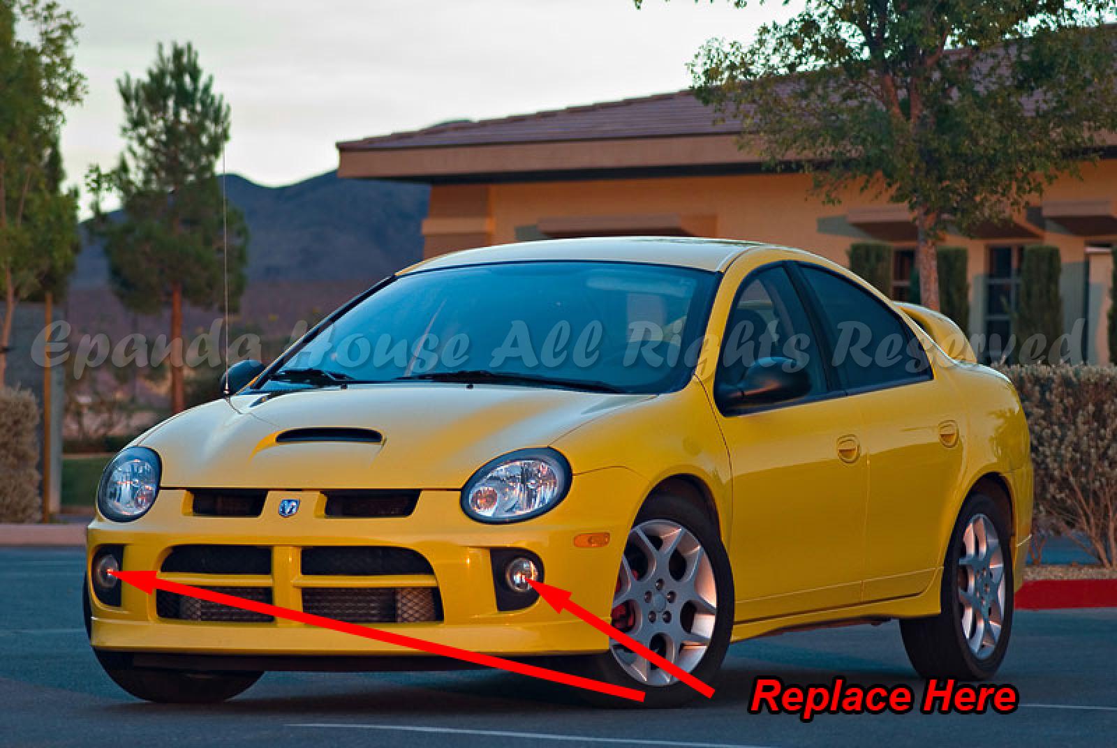 For 03 05 Dodge Neon Sedan Srt4 Se 3 Fog Lights White Led Halo Srt 4 Wiring Diagram Features