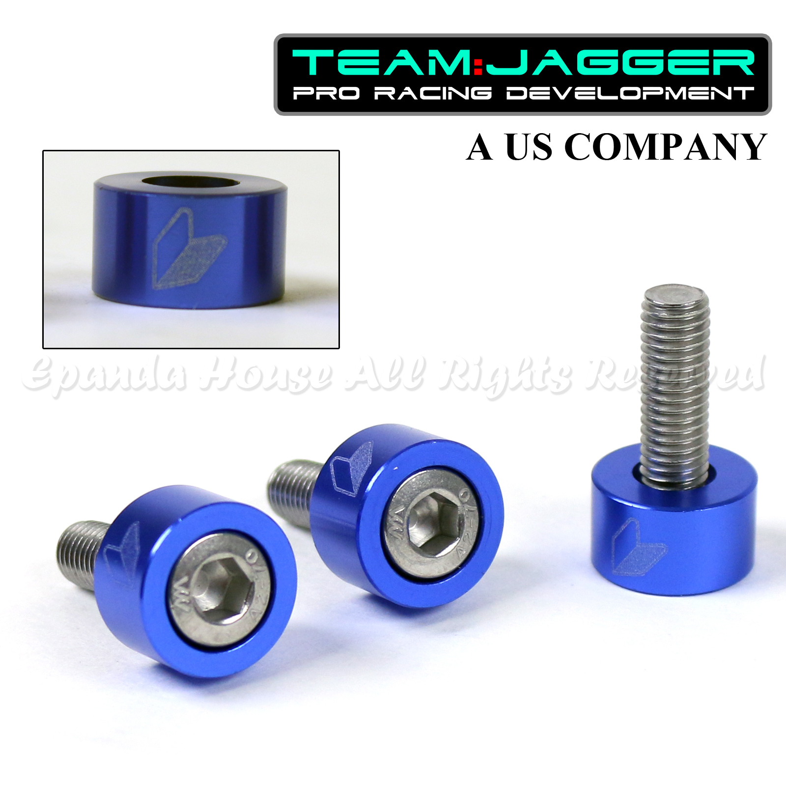 FOR 90-01 INTEGRA DC JDM LOGO 9PC 8MM BOLTS HEADER CUP WASHERS ANODIZED BLACK