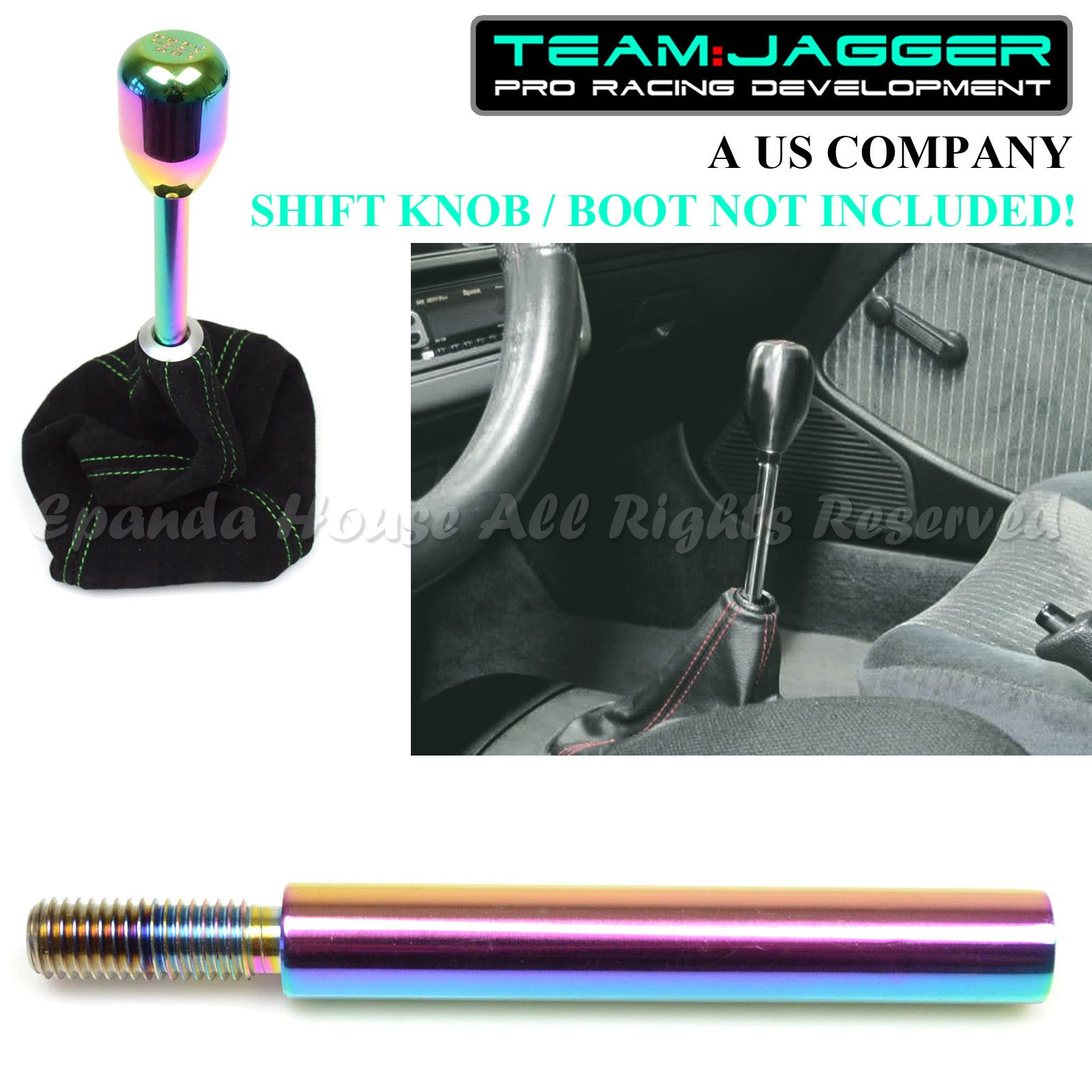 USA WHITE 5-SPEED METAL MANUAL GEAR SHIFT KNOB GREEN FOR JEEP DODGE M10 THREAD
