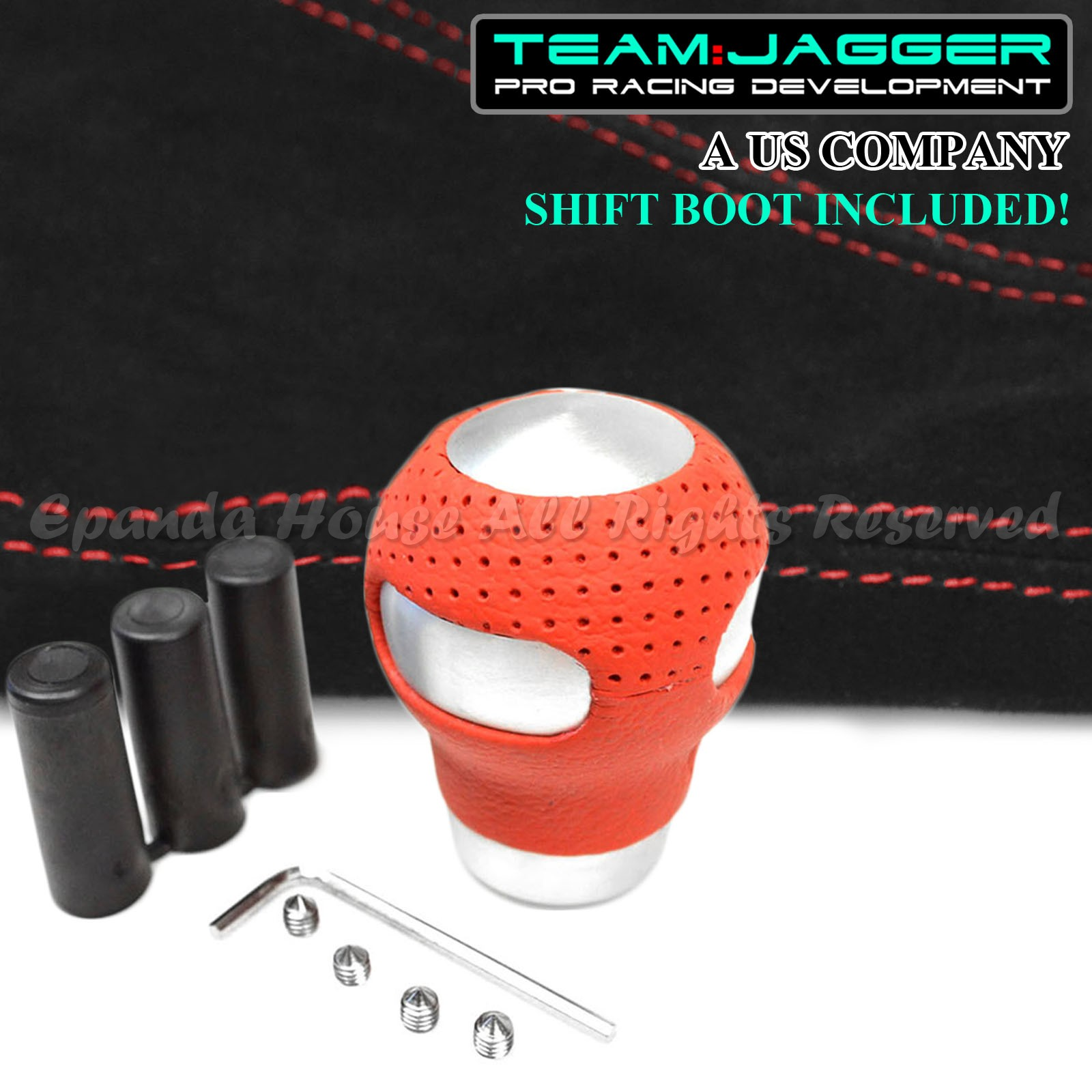 sourcing map M10 x 1.25mm Thread Colorful Car Manual Gear Lever Shift Knob Boot Retainer Adapter