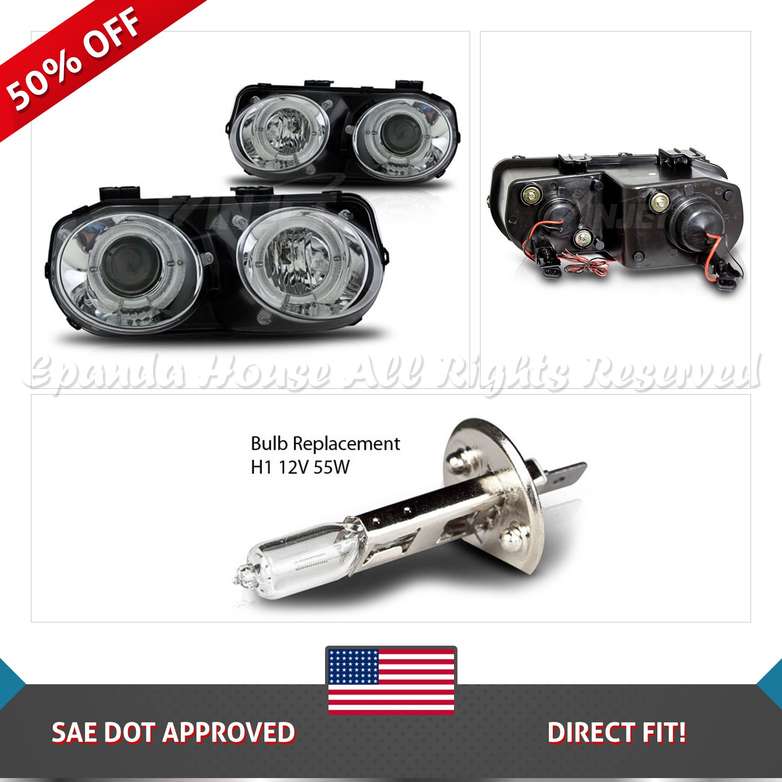 housing specd clear acura bk d for spec lens integra b headlights lb bumper rs p black signal lights