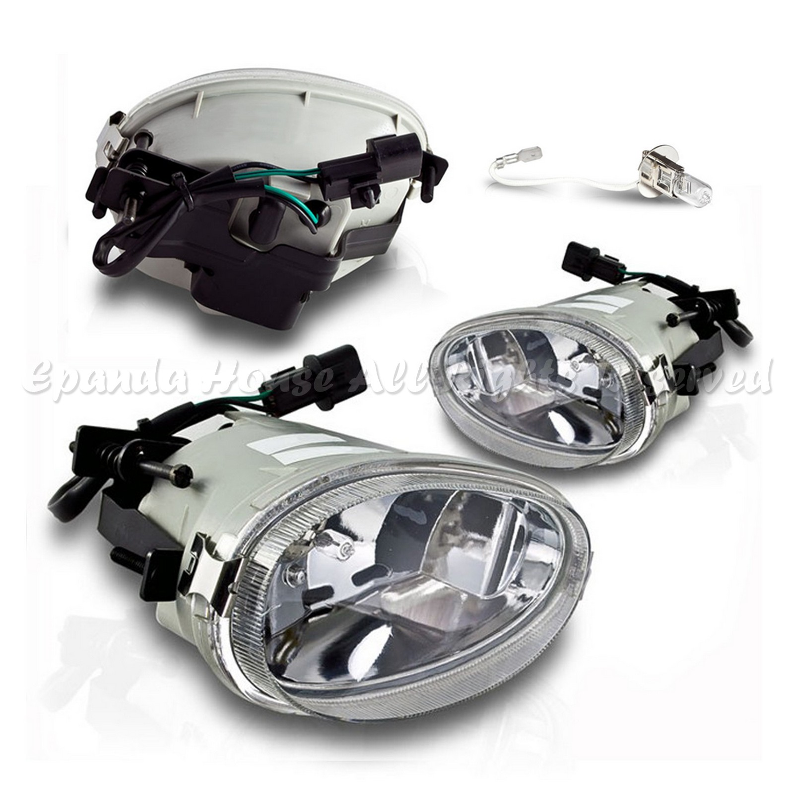 For 98 99 Hyundai Accent Clear Lens Usa Fog Lights Assemblies 8000k Wiring Diagram Free