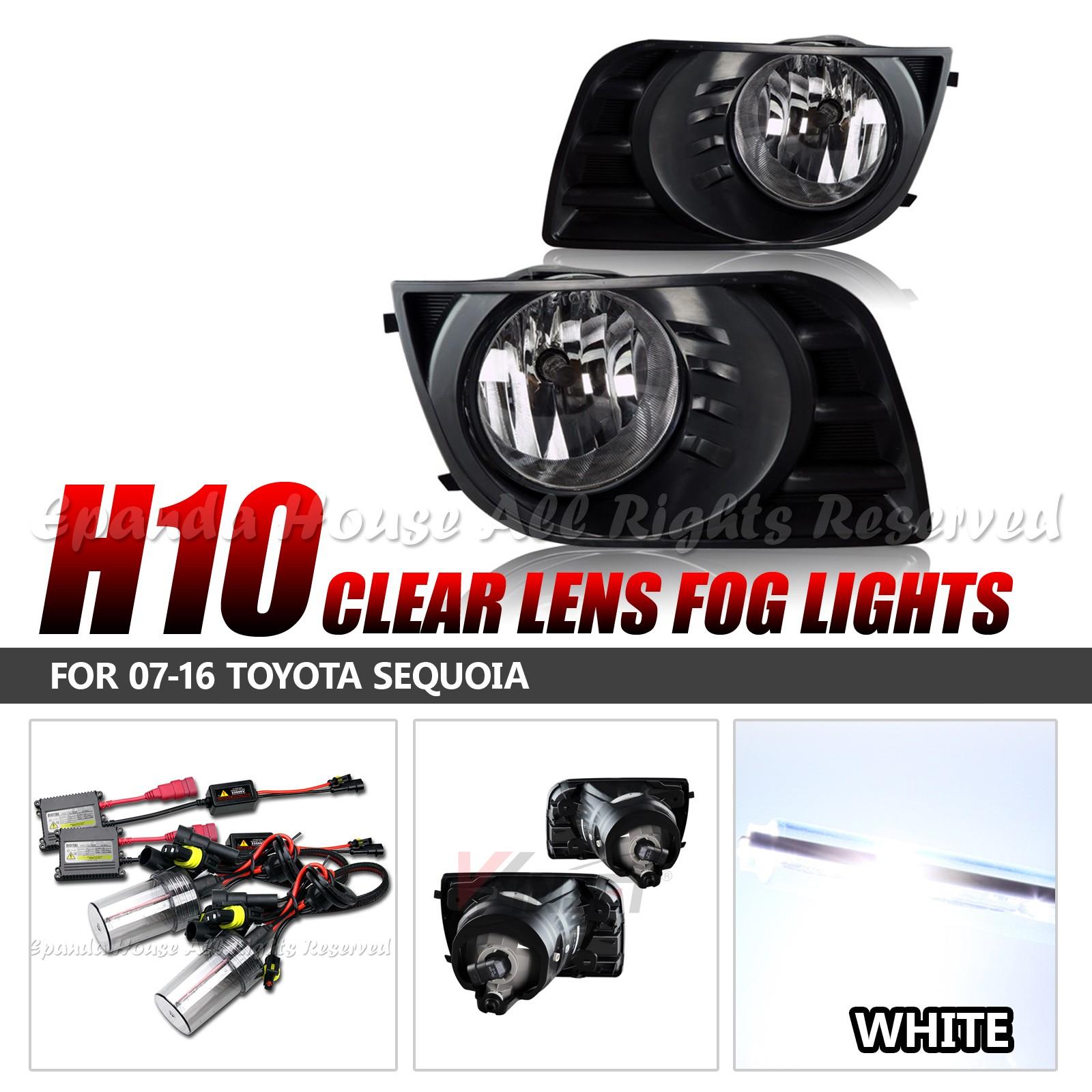 For-07-16-Toyota-Sequoia-Lentes-Transparentes-Faros-Antiniebla-Asambleas-6000K