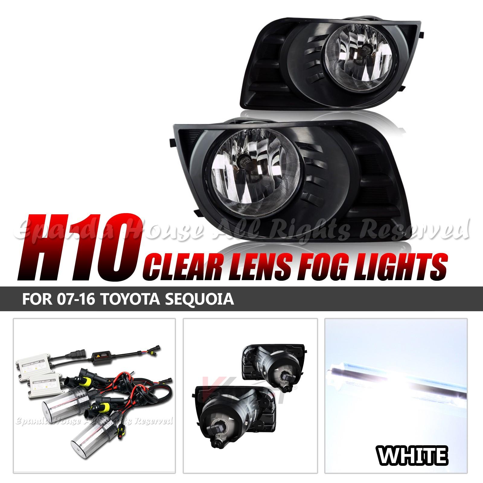 Para-07-16-Toyota-Sequoia-Lentes-Transparentes-Faros-Antiniebla-Asambleas-6000k