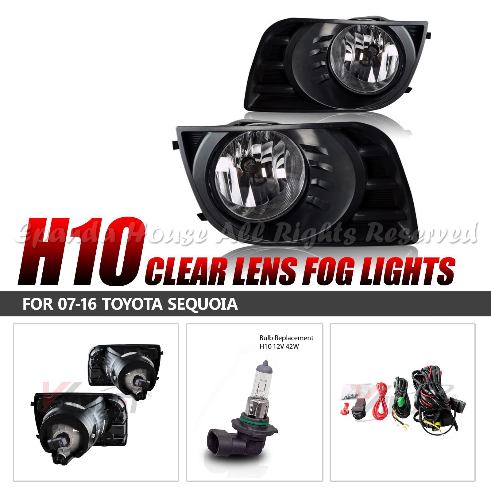 Para-07-16-Toyota-Sequoia-Lentes-Transparentes-Faros-Antiniebla-Asambleas-6000k miniatura 2